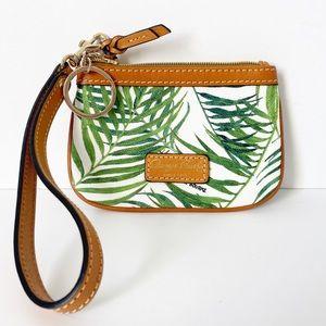 "NWOT Dooney & Bourke ""Siesta"" Palm Print Wristlet"